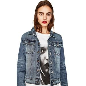 Zara denim jean jacket